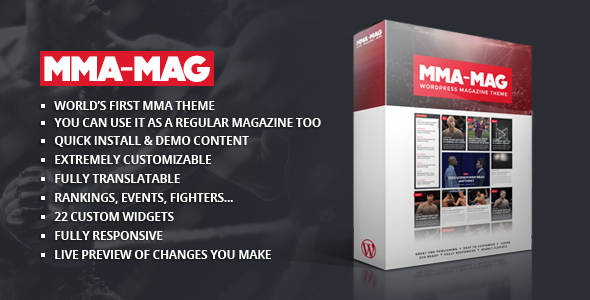 MMA Mag WordPress Sports Theme Forest Image